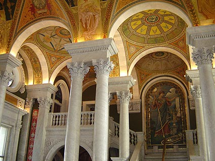 Interior of the Library of Congress Jefferson Building