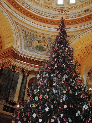 Holiday Tree at the State Capitol