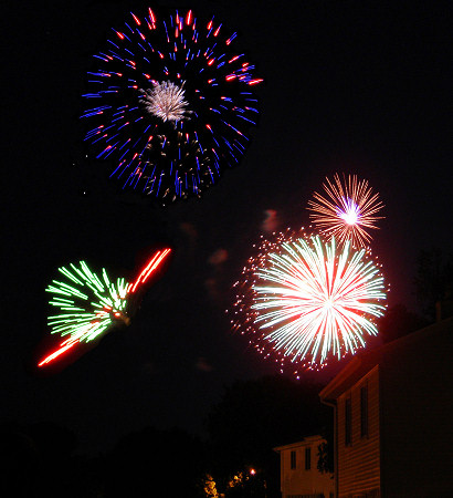 Fireworks over Park Ridge Drive