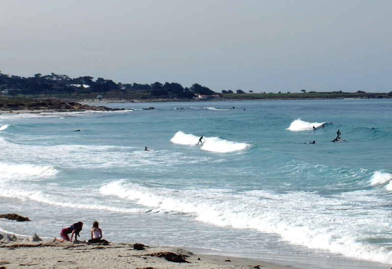 Surfers on the Monterey Peninsula