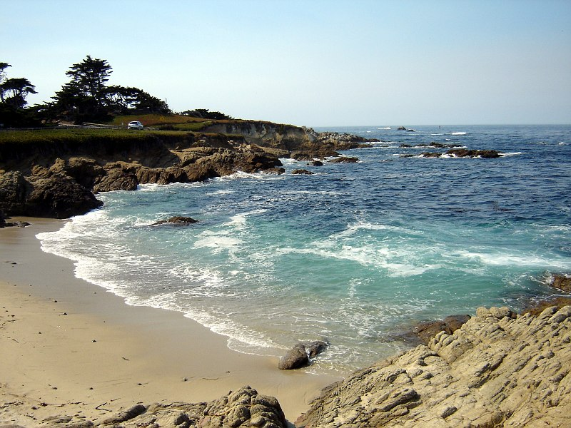 Small beach at Pacific Grove