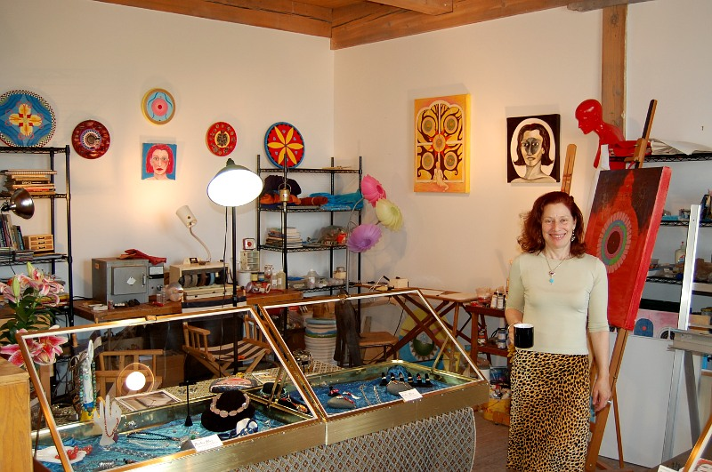 Barbara Bloy in her studio