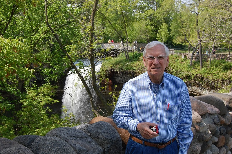 Wilmer Bloy at Minnehaha Falls