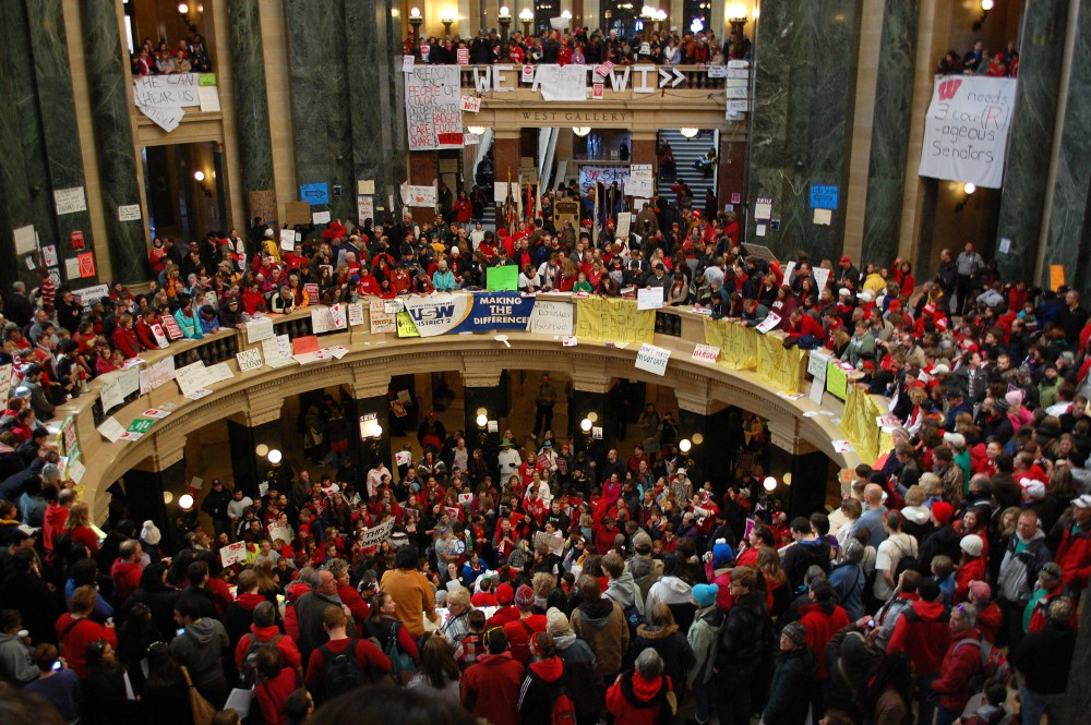 protesters inside the Capitol