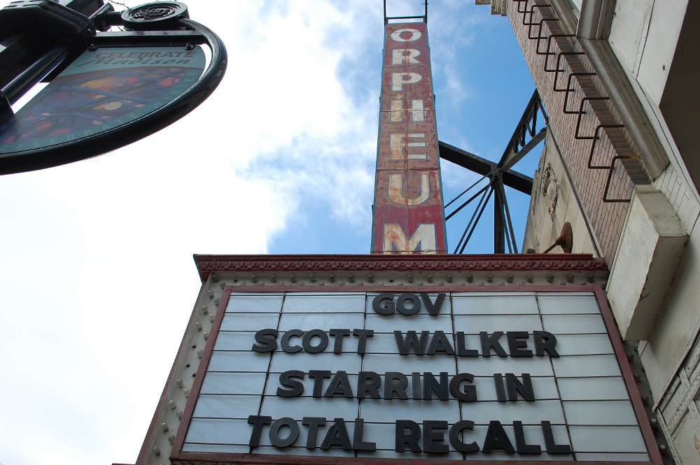 Theater marquee: Scott Walker in Total Recall
