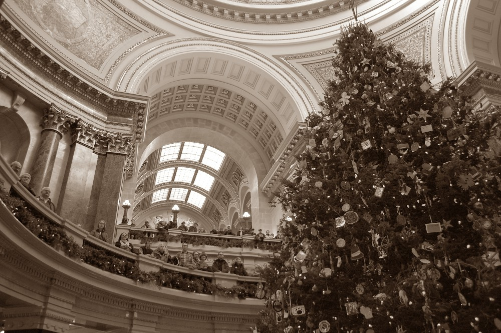 Christmas tree inside the Capitol