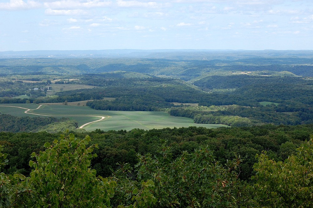 view from Blue Mound State Park east tower