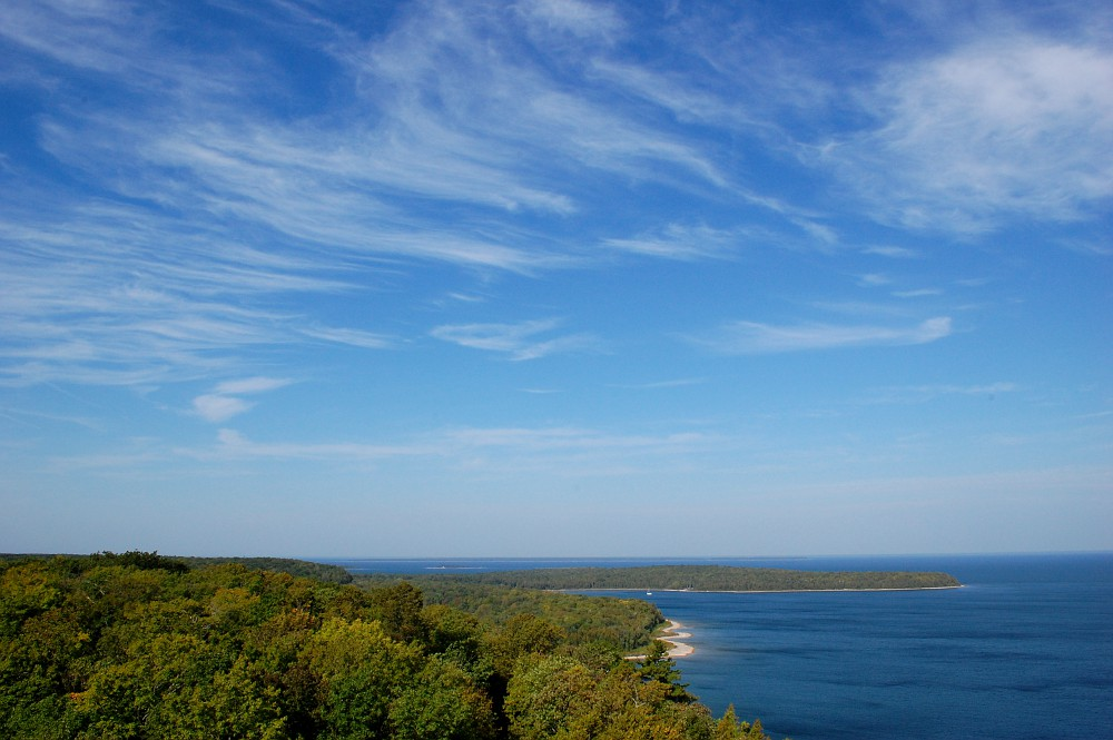 Cirrus clouds over Door County