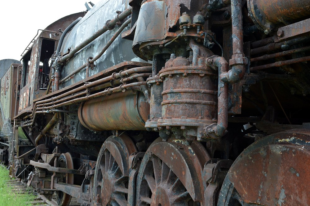 Rusting steam locomotive