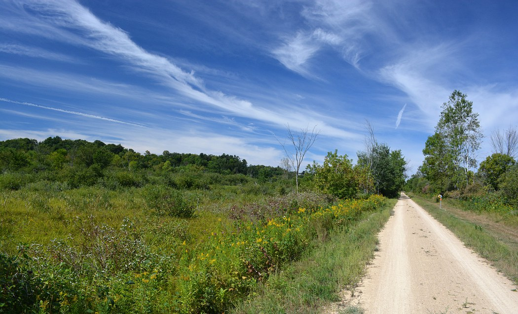 400 State Trail along an open prairie