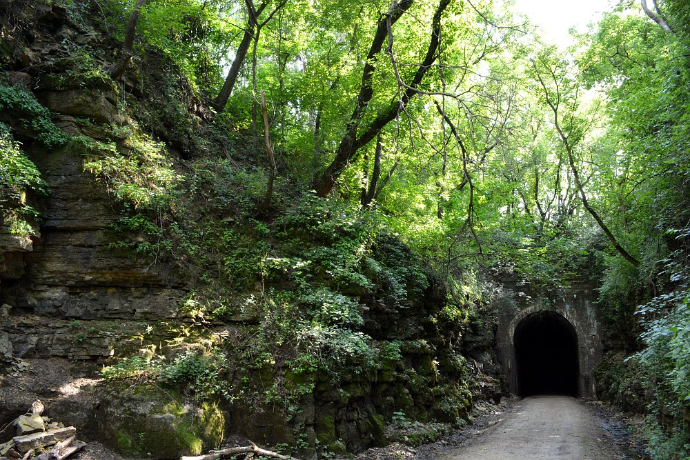 Approach to Stewart Tunnel, Badger State Trail