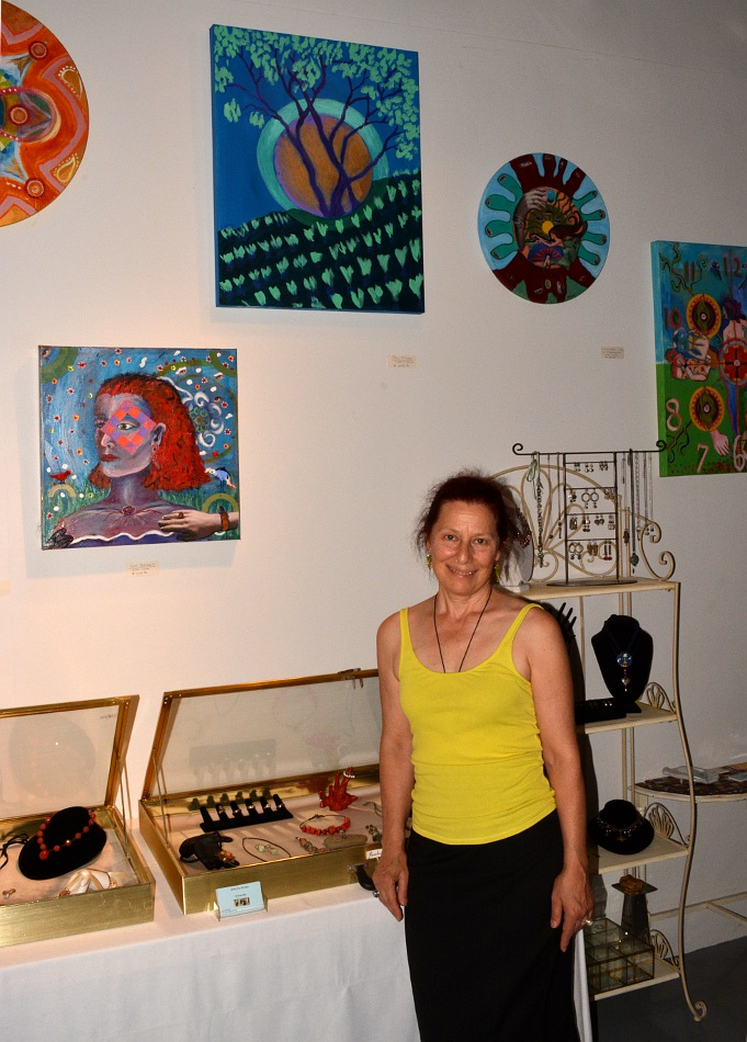 Barbra Bloy at her art studio