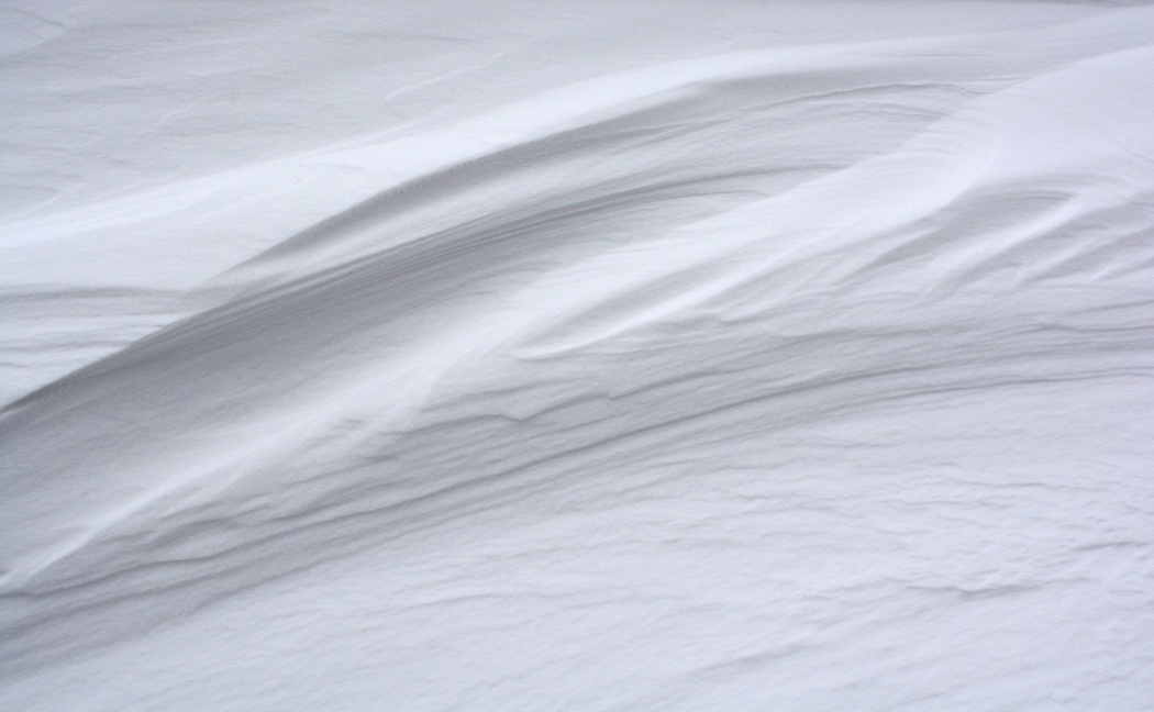 Windblown snow