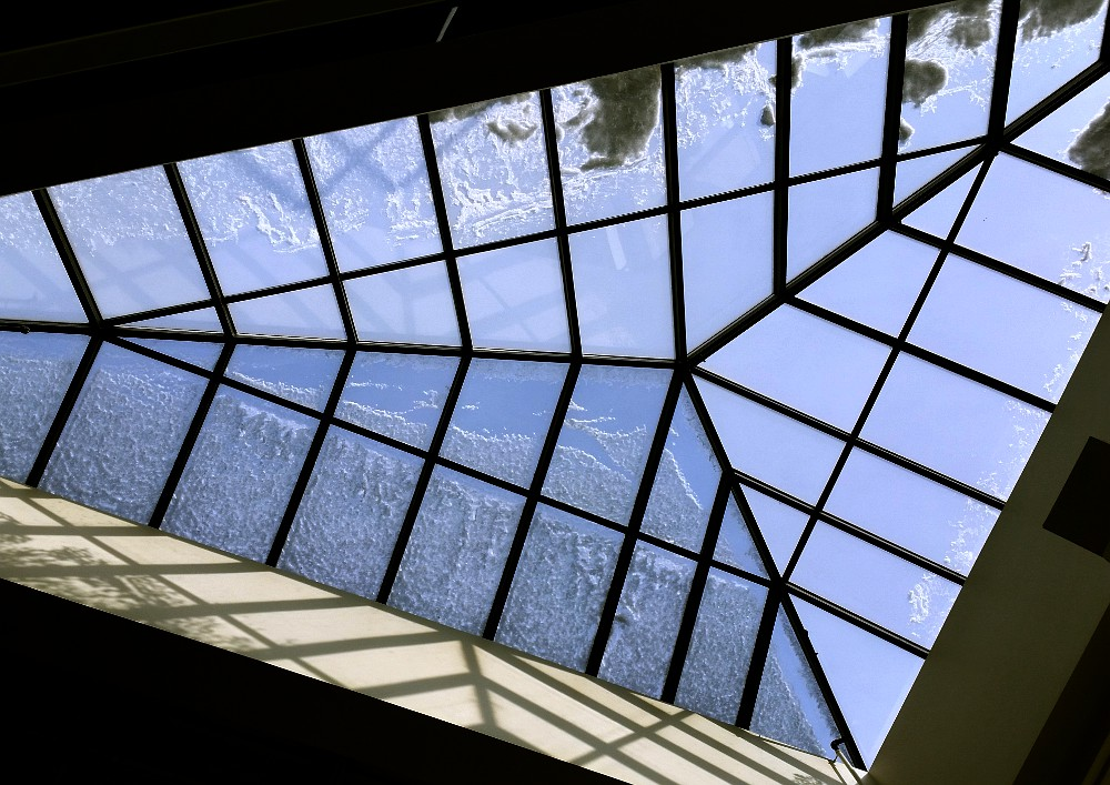 skylight with some snow
