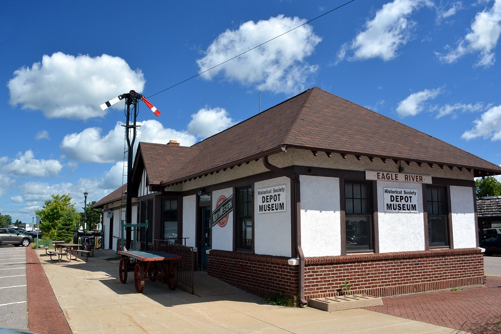 Chicago & North Western railroad depot at Eagle River, Wisconsin