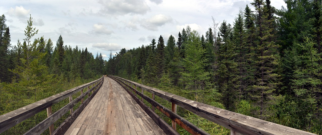 Harshaw Trestle on the Bearskin State Trail