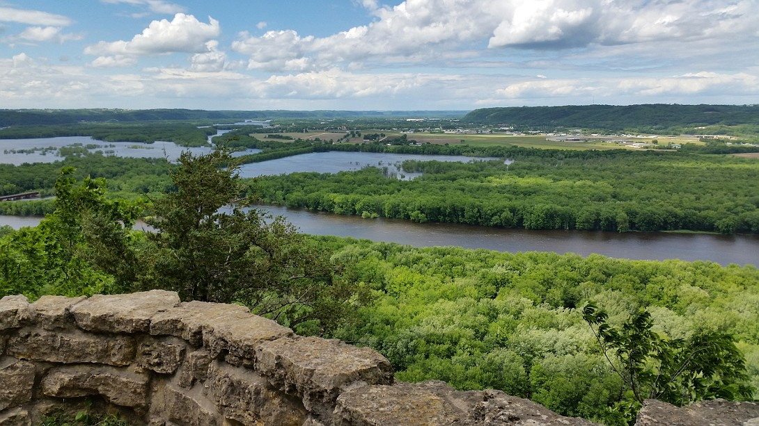 Scenic overlook of the Wisconsin and Mississippi Rivers
