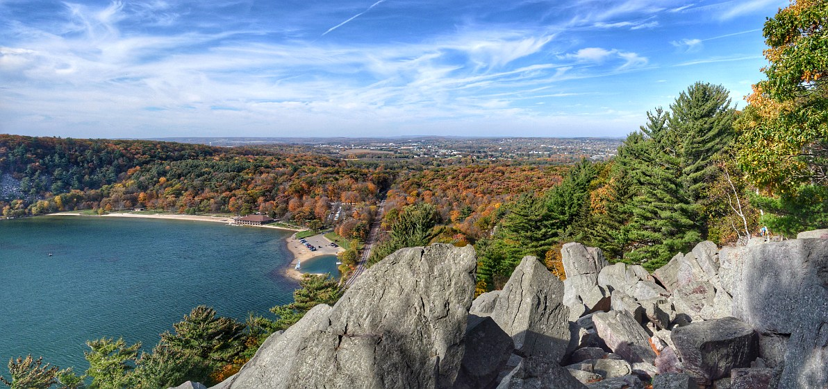 View from the east bluff of Devil's Lake State Park